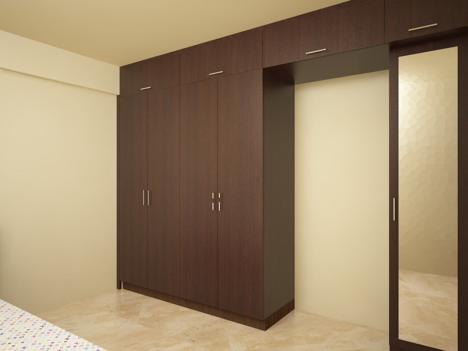 Bedroom Sliding door Wardrobe Designs by Top Interiors Design Company Bangalore