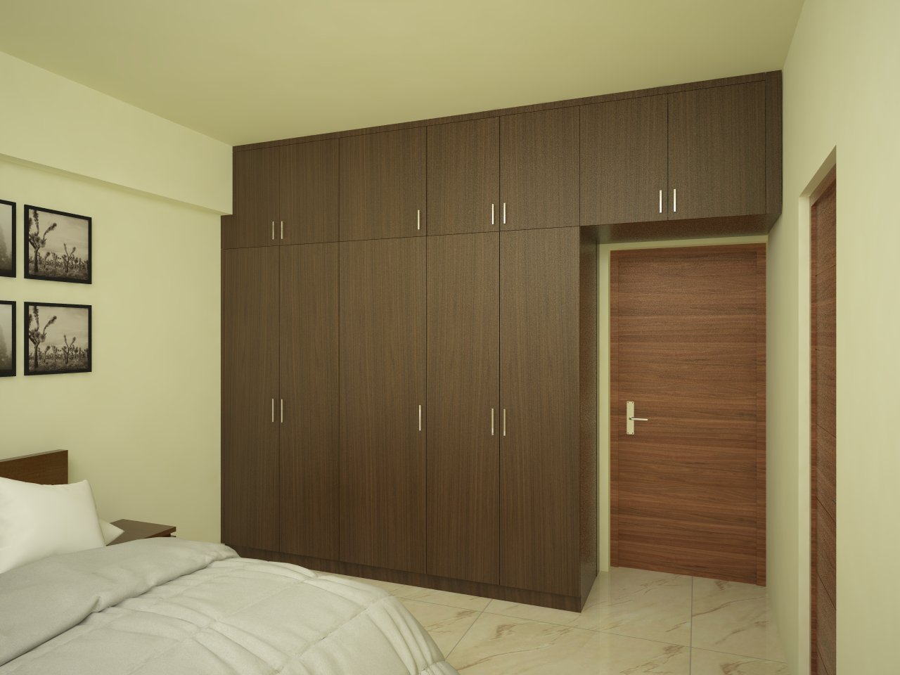 Bedroom Sliding door Wardrobe with mirror Designs by INterior Designer in Bangalore