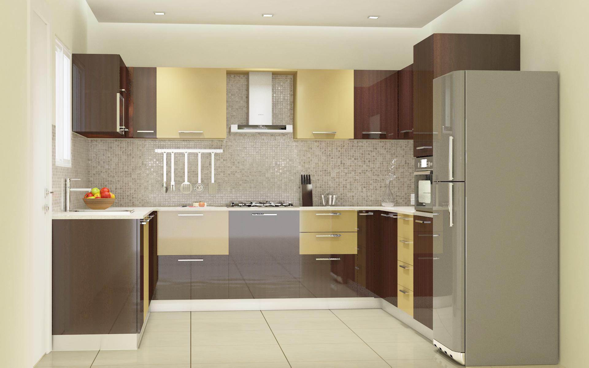 Best modular kitchen designs in bangalore customised - L shaped modular kitchen designs catalogue ...
